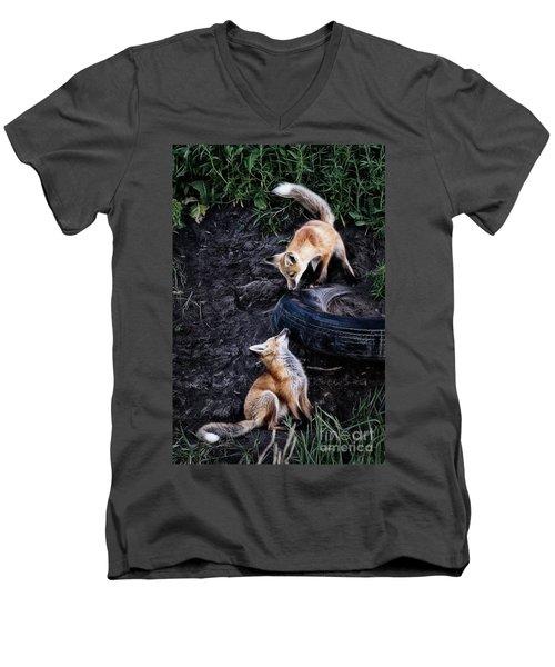 Hide-and-seek Men's V-Neck T-Shirt