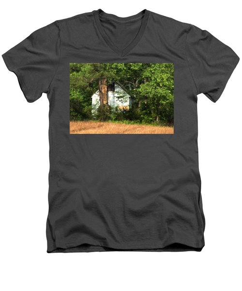 Men's V-Neck T-Shirt featuring the photograph Hide And Seek by Kathleen Scanlan