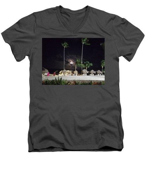 Hiding Moon Men's V-Neck T-Shirt
