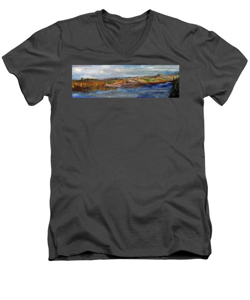 Tranquility Men's V-Neck T-Shirt by Michael Helfen