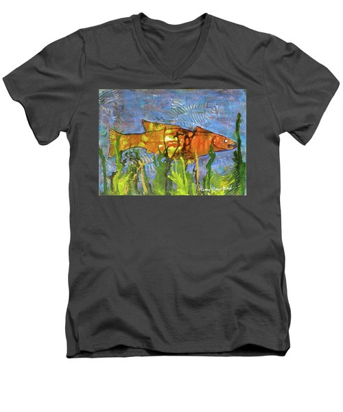 Hiding Out Men's V-Neck T-Shirt by Terry Honstead