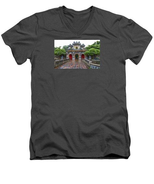 Hien Nhon Gate, Citadel, Hue,vietnam Men's V-Neck T-Shirt