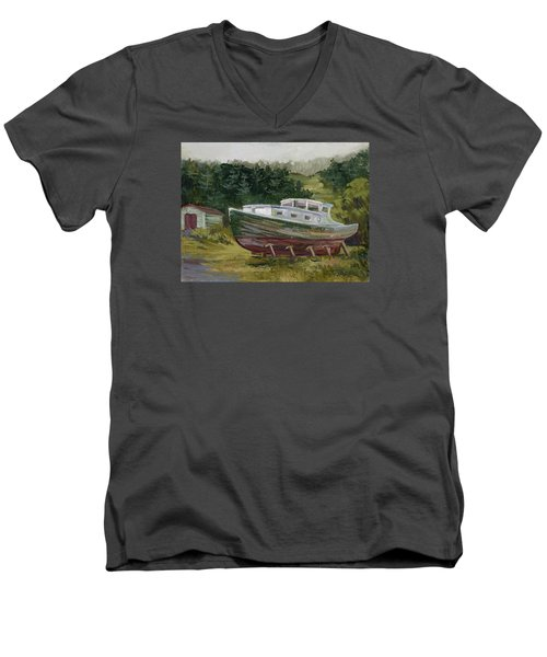 High And Dry Men's V-Neck T-Shirt by Jane Thorpe