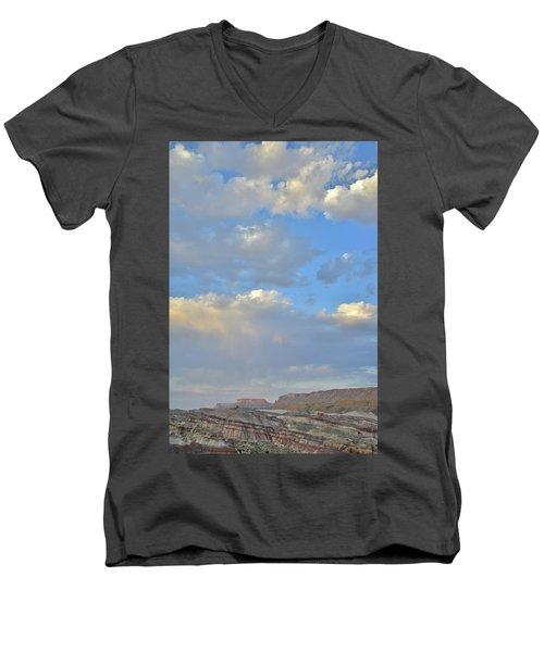 High Clouds Over Caineville Wash Men's V-Neck T-Shirt