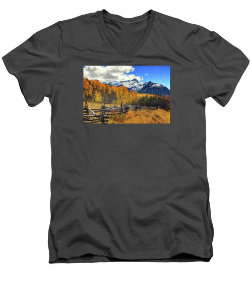 High County Ablaze Men's V-Neck T-Shirt by Rick Furmanek