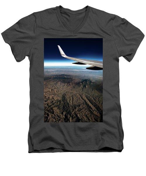High Desert From High Above Men's V-Neck T-Shirt