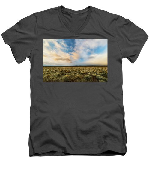 Men's V-Neck T-Shirt featuring the photograph High Desert Morning by Ryan Manuel