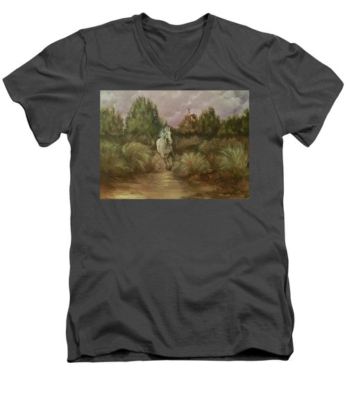 High Desert Runner Men's V-Neck T-Shirt