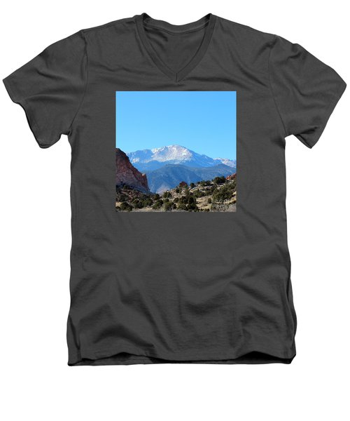 High Desert Winter Men's V-Neck T-Shirt