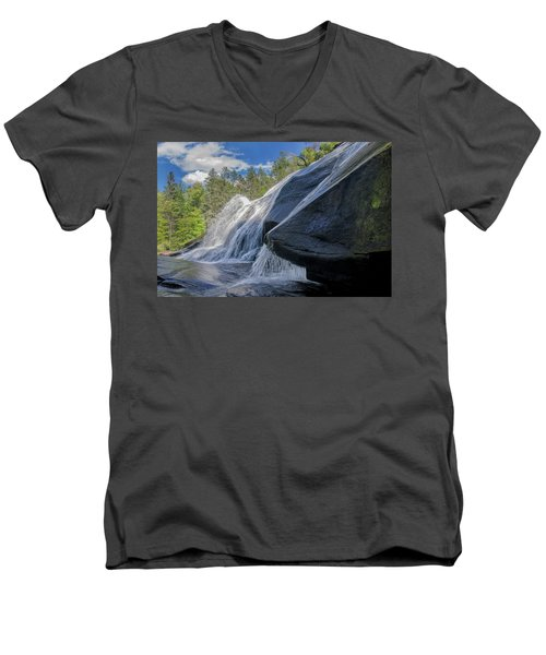 High Falls One Men's V-Neck T-Shirt by Steven Richardson