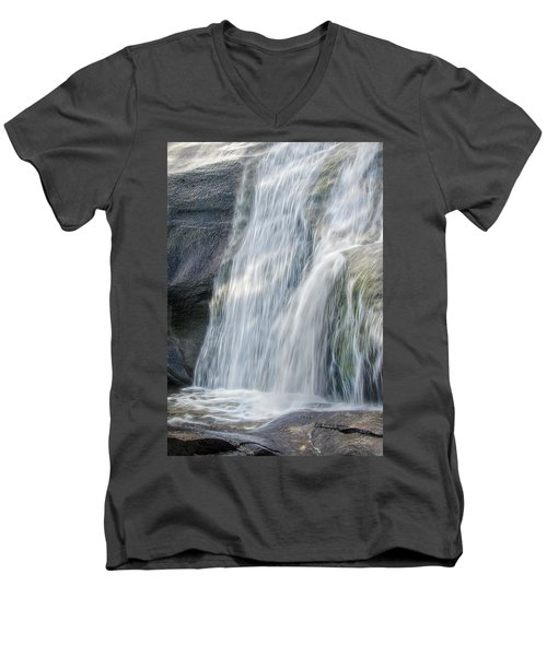 High Falls Three Men's V-Neck T-Shirt by Steven Richardson