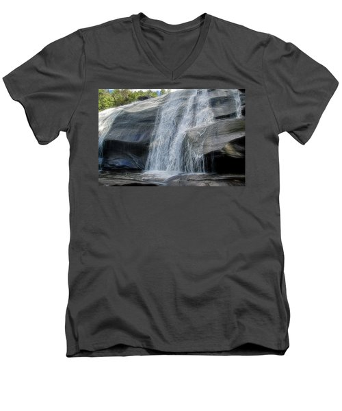 High Falls Two Men's V-Neck T-Shirt by Steven Richardson