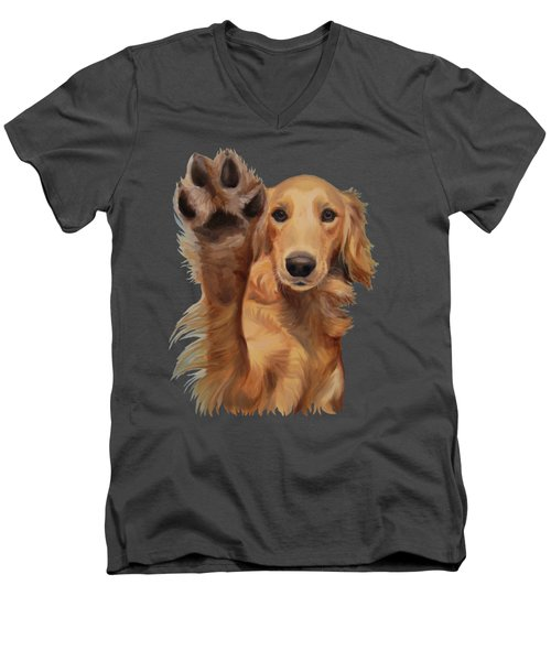 High Five - Apparel Men's V-Neck T-Shirt by Jindra Noewi