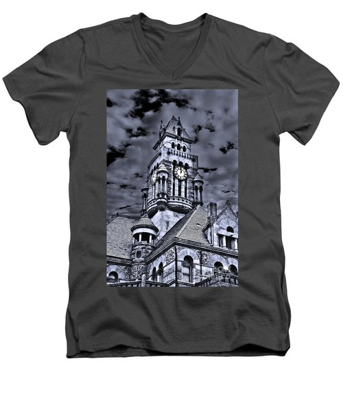 High Noon Black And White Men's V-Neck T-Shirt by Tamyra Ayles
