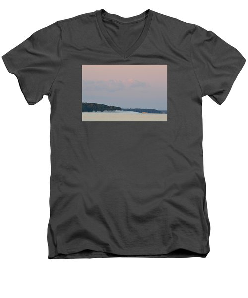 Men's V-Neck T-Shirt featuring the photograph High Speed Boat  by Lyle Crump