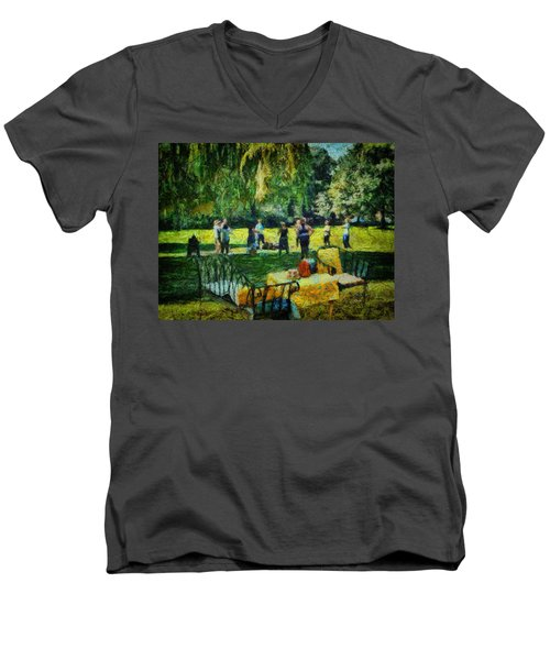 High Tea Tai Chi Men's V-Neck T-Shirt