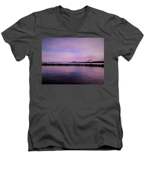 Men's V-Neck T-Shirt featuring the photograph High Tide by Karen Horn