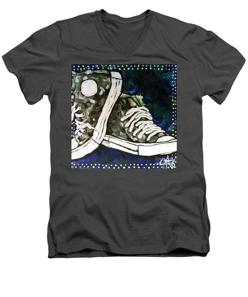 High Top Heaven Men's V-Neck T-Shirt by Jackie Carpenter