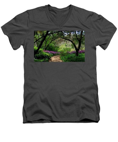 Highdown Gardens2 Men's V-Neck T-Shirt