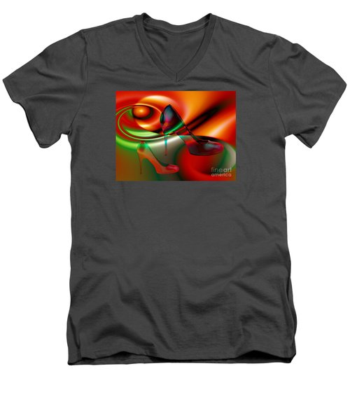 Highheels Red And Green Men's V-Neck T-Shirt
