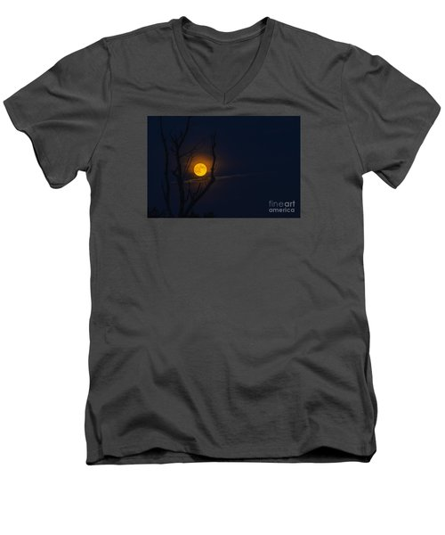 Highland Moon  Men's V-Neck T-Shirt