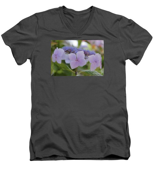Highlands Hydrangea Men's V-Neck T-Shirt