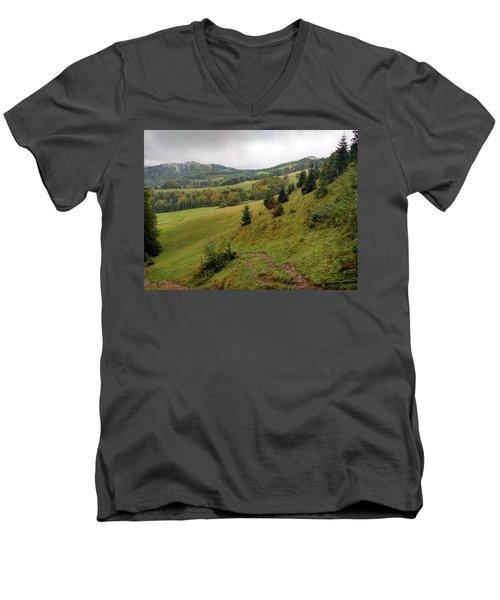 Highlands Landscape In Pieniny Men's V-Neck T-Shirt