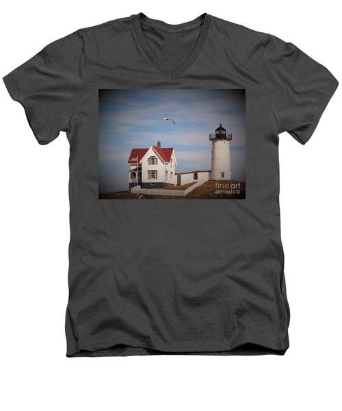 Highlighting The Nubble Light Men's V-Neck T-Shirt