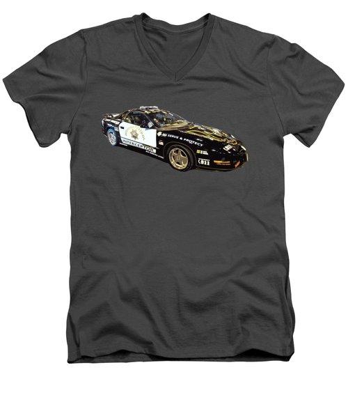 Highway Interceptor Art Men's V-Neck T-Shirt