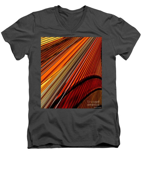 Highway To Sun Men's V-Neck T-Shirt by Thibault Toussaint