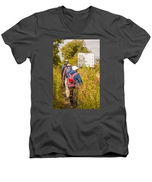 Hiking In The Highlands Men's V-Neck T-Shirt