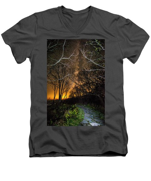 Hiking The Milky Way Men's V-Neck T-Shirt