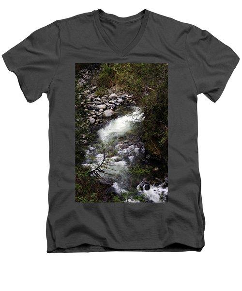 Hiking Wallace Falls#1 Men's V-Neck T-Shirt