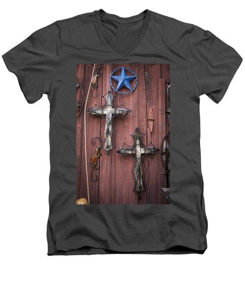 Hill Country Crosses Men's V-Neck T-Shirt