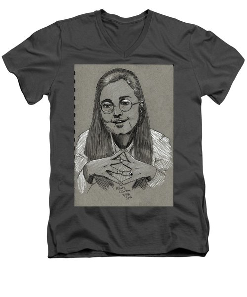 Hillary Clinton Men's V-Neck T-Shirt