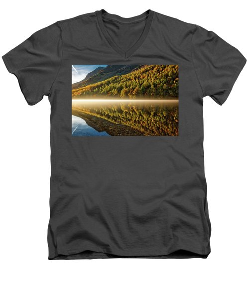 Hills In The Mist Men's V-Neck T-Shirt
