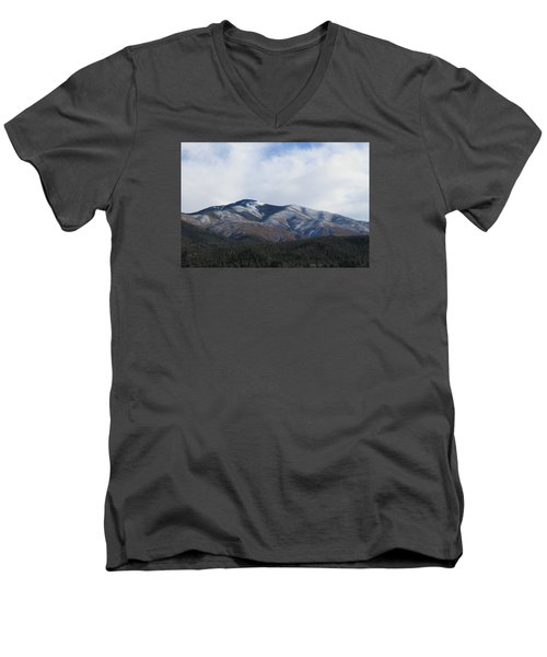 Hills Of Taos Men's V-Neck T-Shirt by Christopher Kirby