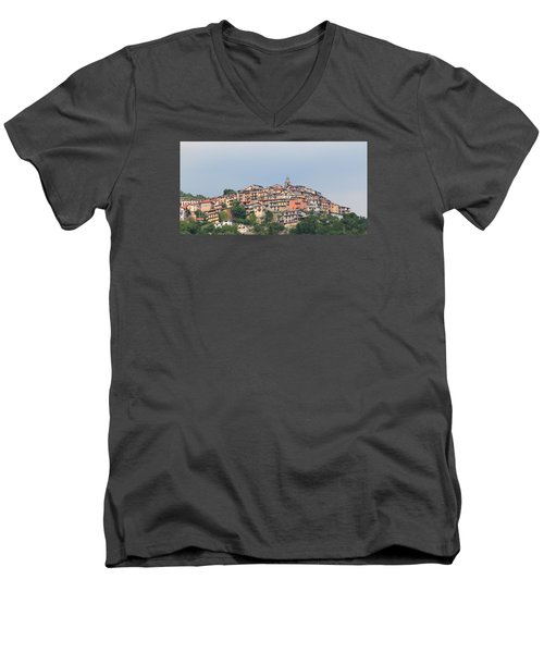 Men's V-Neck T-Shirt featuring the photograph Hilltop by Richard Patmore