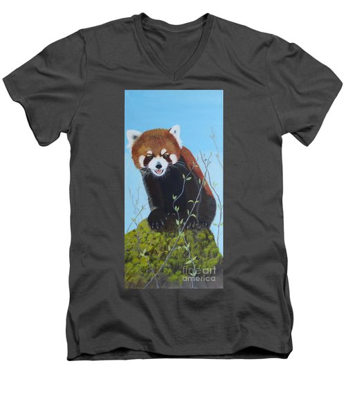 Himalayan Red Panda Men's V-Neck T-Shirt