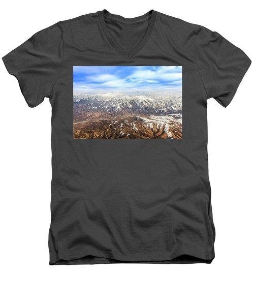 Hindu Kush Snowy Peaks Men's V-Neck T-Shirt