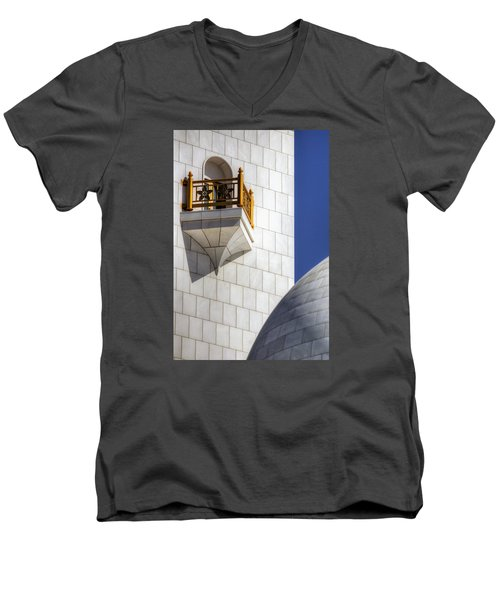 Hindu Temple Tower Men's V-Neck T-Shirt by John Swartz