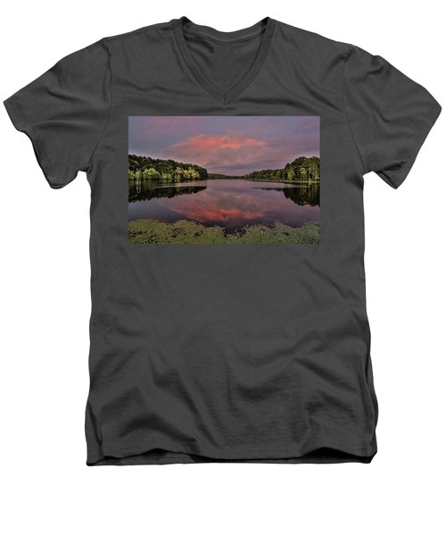 Hinson Lake Clouds Men's V-Neck T-Shirt