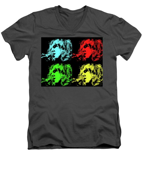Hippie Memories Pop Art Men's V-Neck T-Shirt