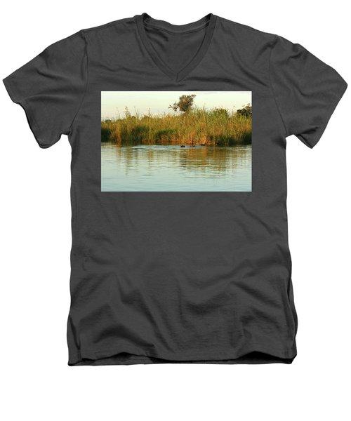 Hippos, South Africa Men's V-Neck T-Shirt