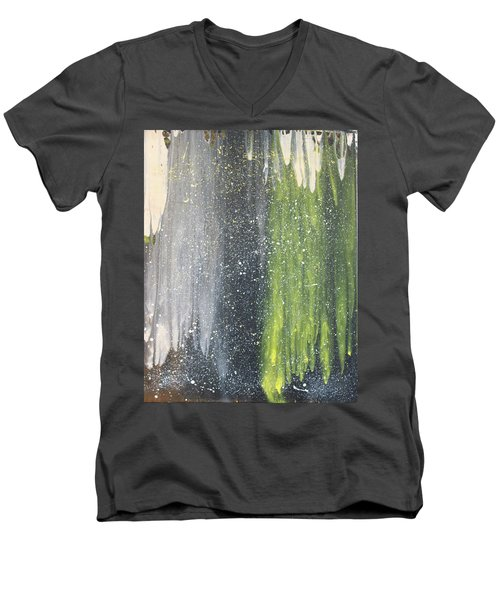 His World Men's V-Neck T-Shirt by Cyrionna The Cyerial Artist