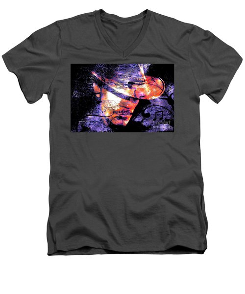 His Love Song  Men's V-Neck T-Shirt by Annie Zeno