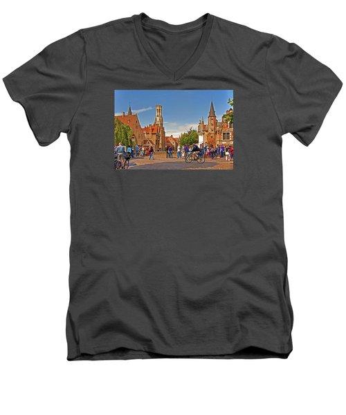 Historic Bruges Men's V-Neck T-Shirt