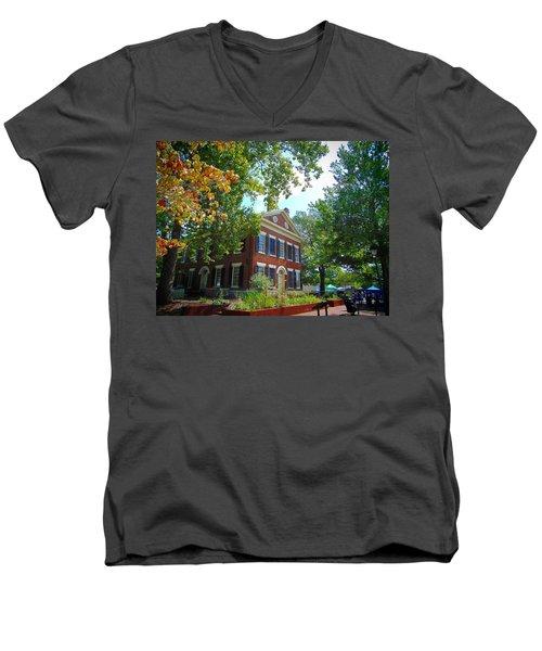 Historic Dahlonega Georgia Courthouse Men's V-Neck T-Shirt