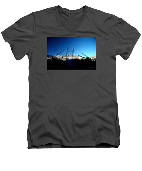 Historic Dewey Bridge Men's V-Neck T-Shirt