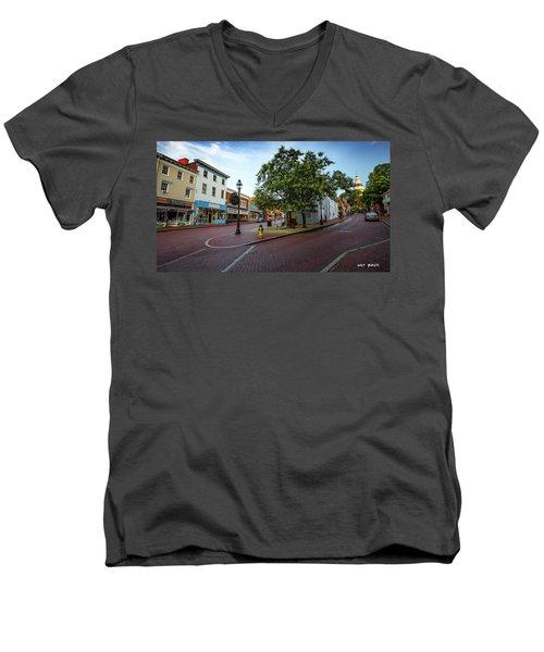 Historic Streets Men's V-Neck T-Shirt